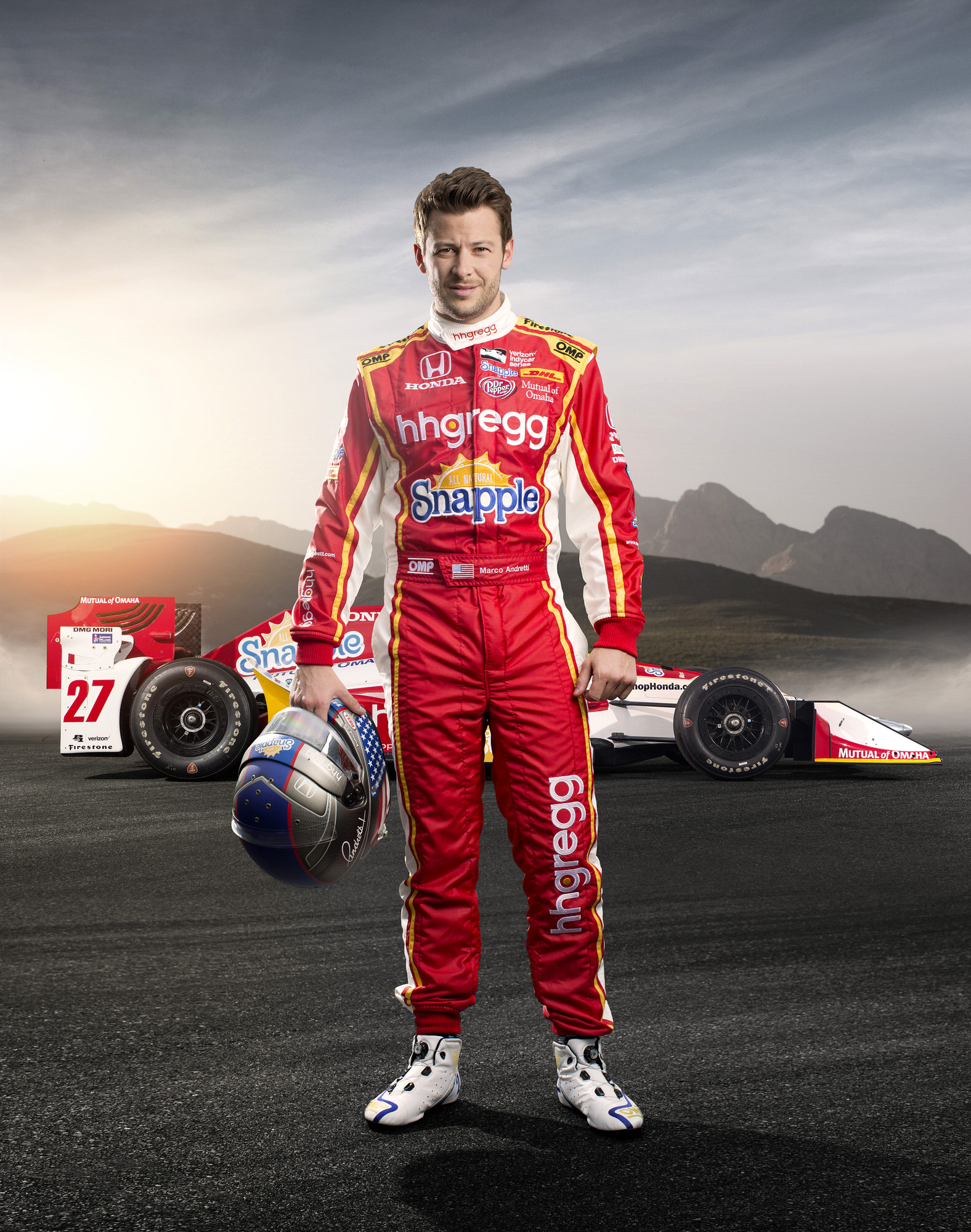 Marco Andretti, driver of the Snapple HHGregg IndyCar