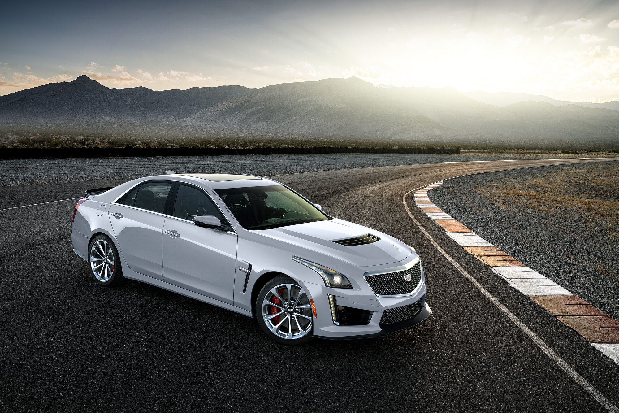 Aerial photography Cadillac CTS-V racetrack