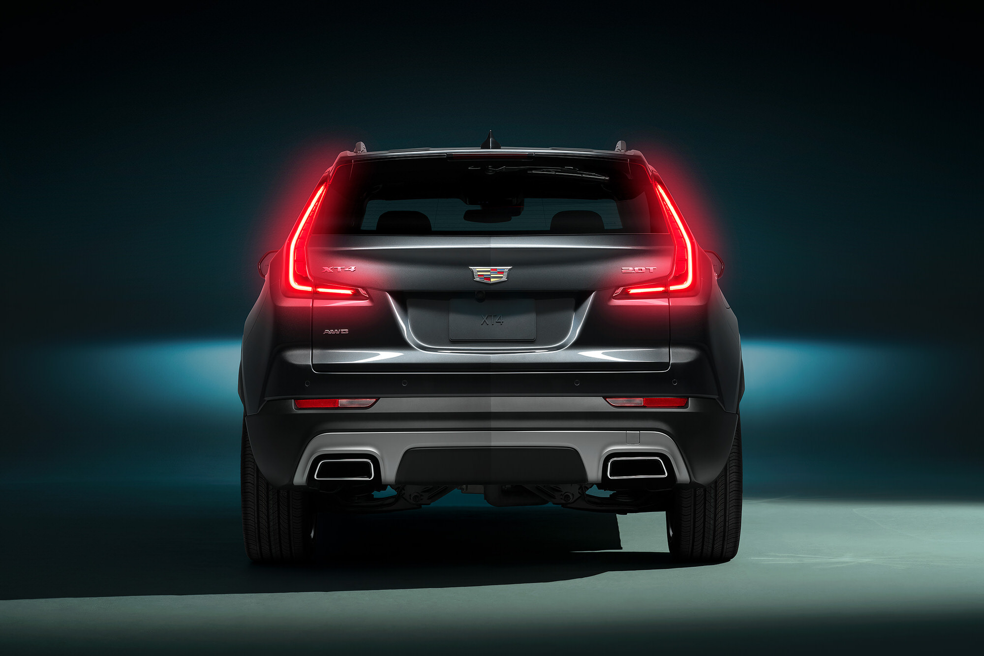 Cadillac XT4 rear commercial studio photography