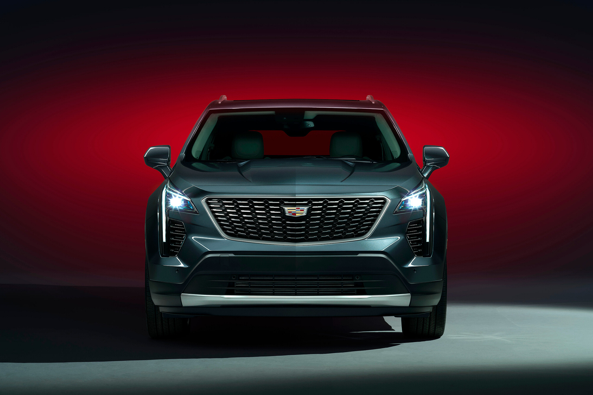 Cadillac XT4 front commercial studio photography