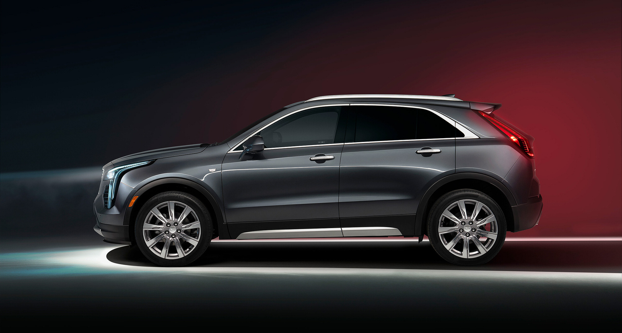 Cadillac XT4 side profile commercial studio photography