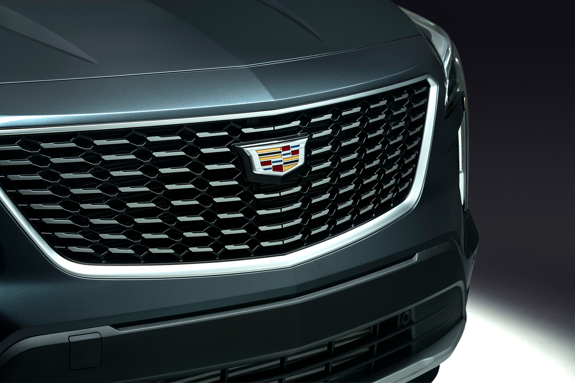 Cadillac XT4 front grill commercial studio photography