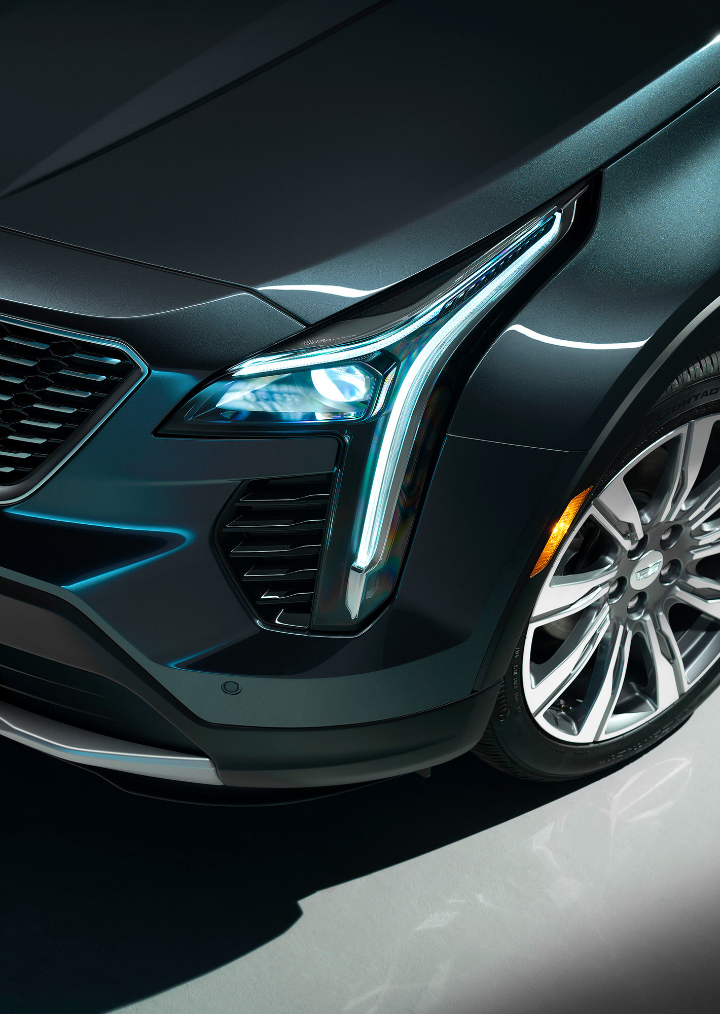 Cadillac XT4 headlight commercial studio photography