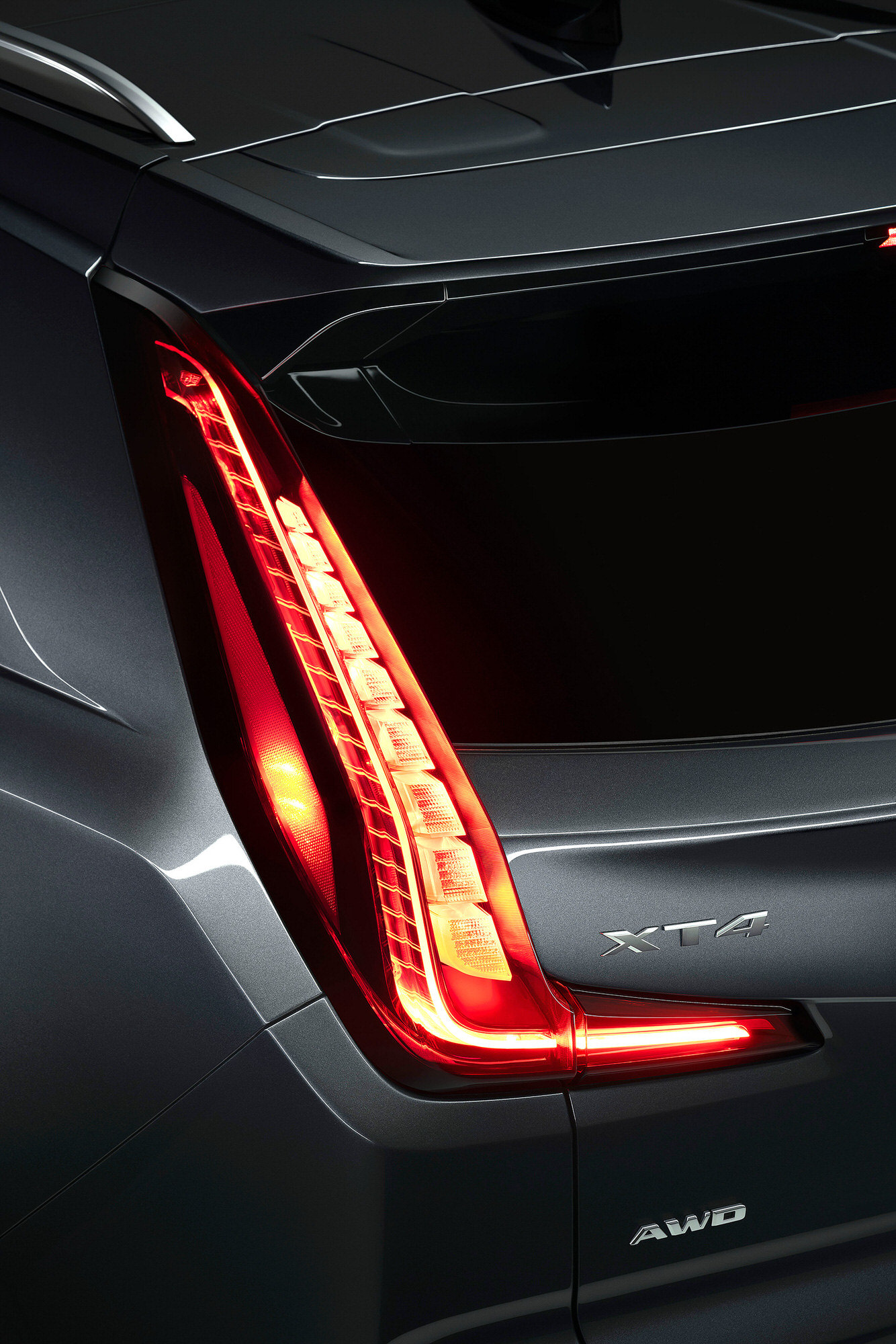 Cadillac XT4 tail light commercial studio photography