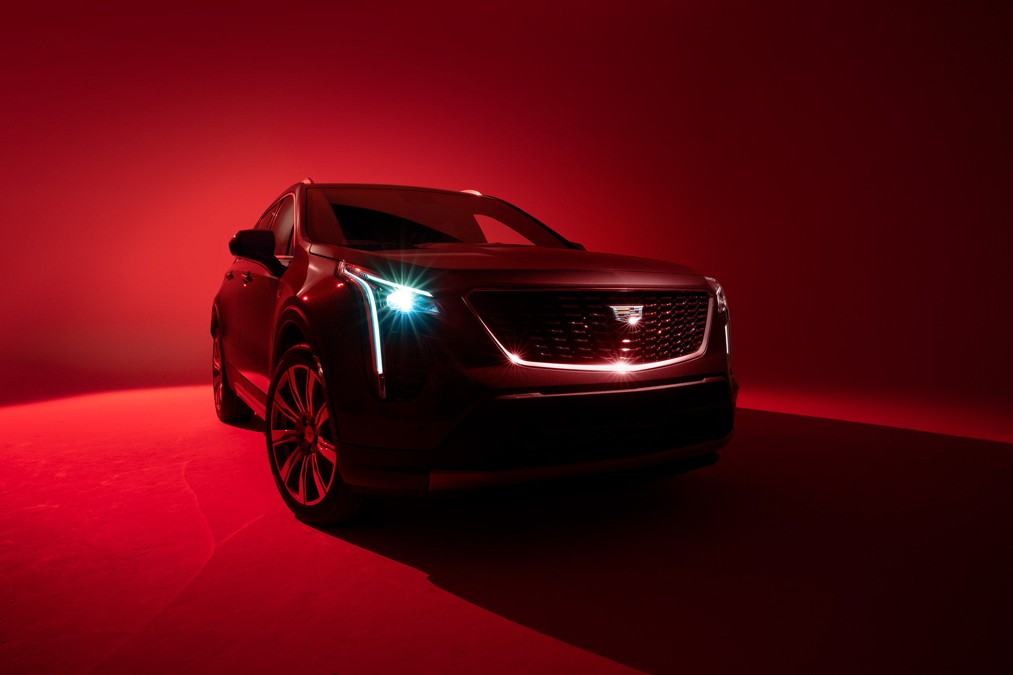 Cadillac XT4 red commercial studio photography