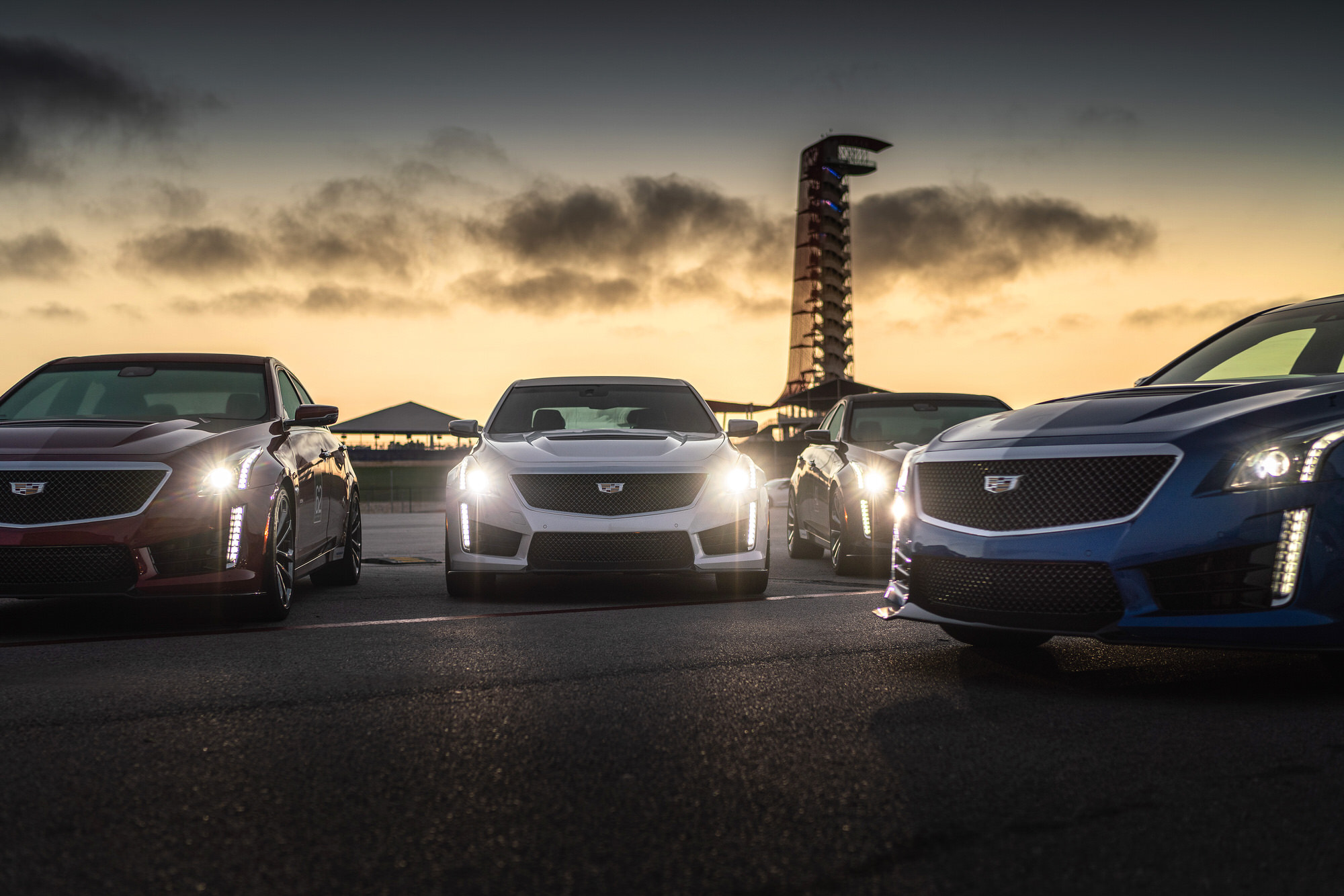 Cadillac V-Performance Academy sunrise COTA racetrack