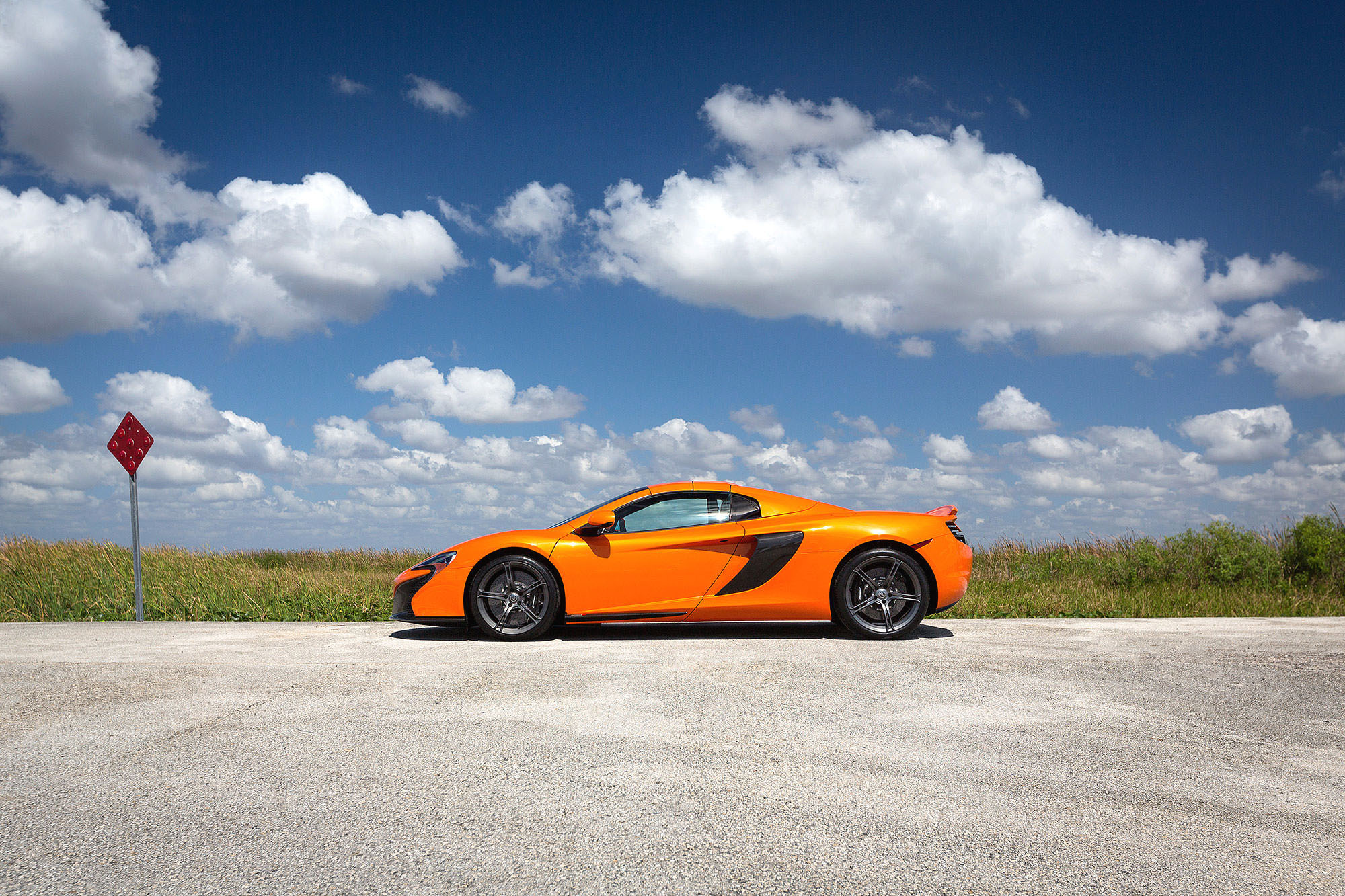 McLaren 650S Spider profile shot on Everglades Parkway