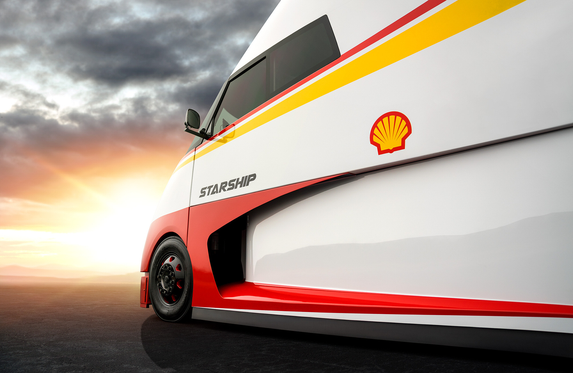 Hyper-Fuel Efficient Shell Starship Airflow Truck Company