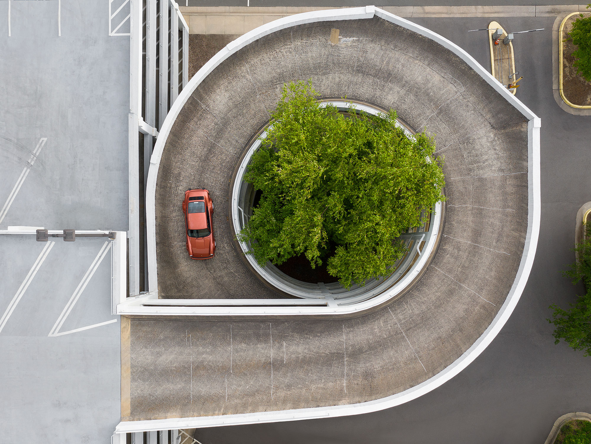 1975 Porsche Tail-Less 911 Turbo aerial photography