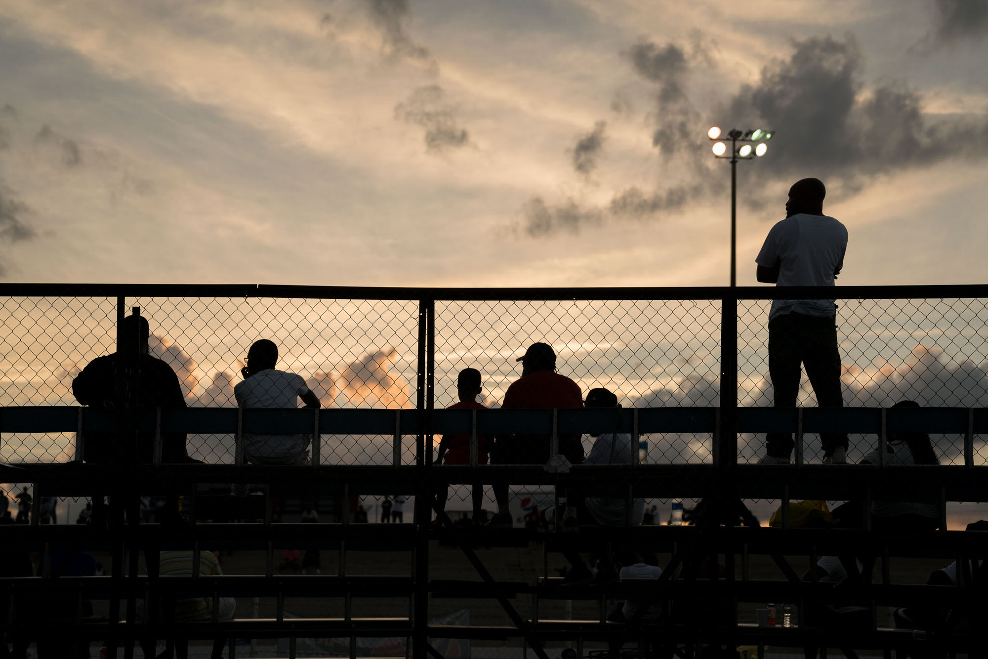 DONK fans during sunset at Darlington Dragway