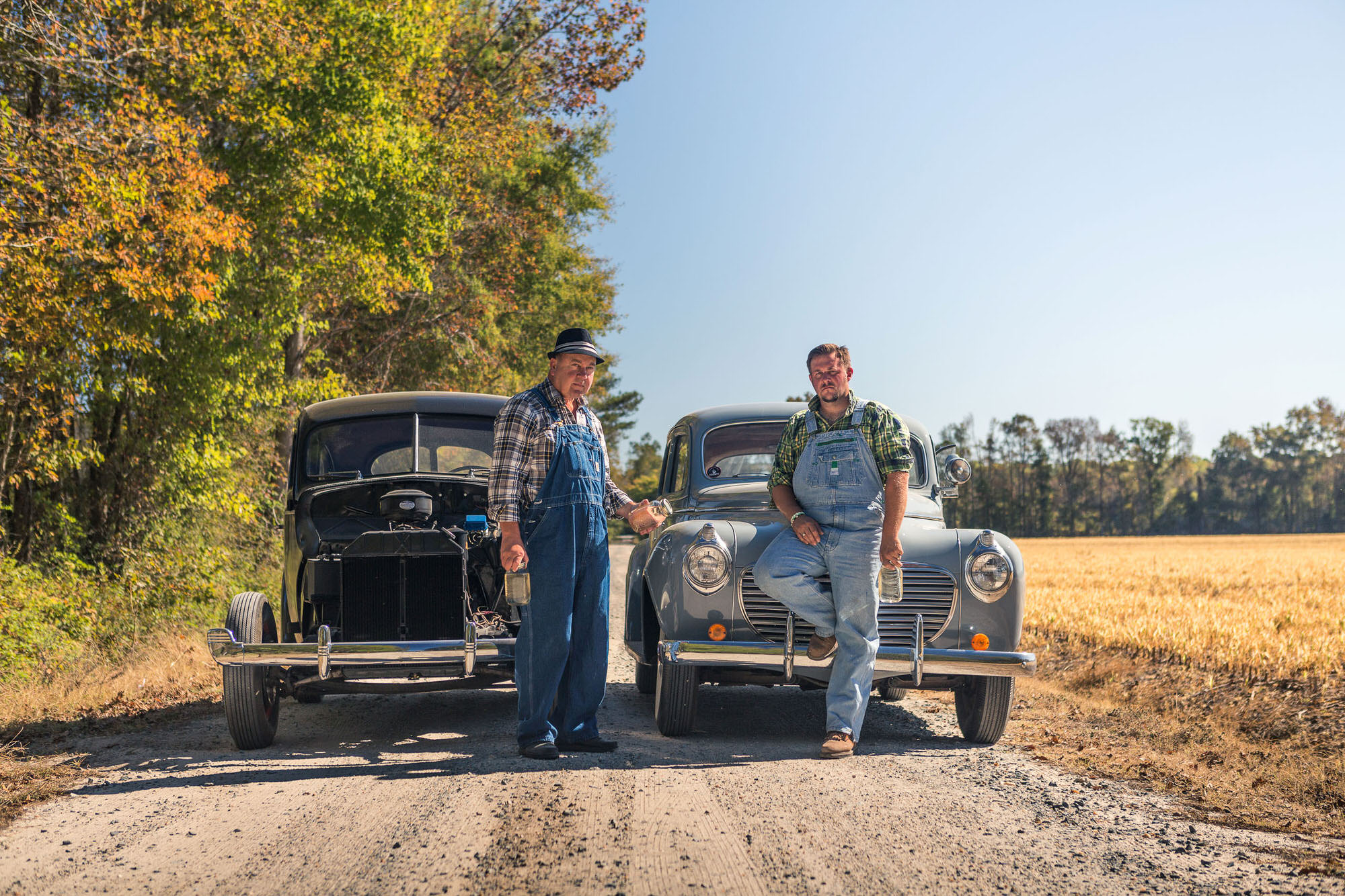 Classic Cars Whiskey Moonshine run through the South, shot for Car and Driver Magazine