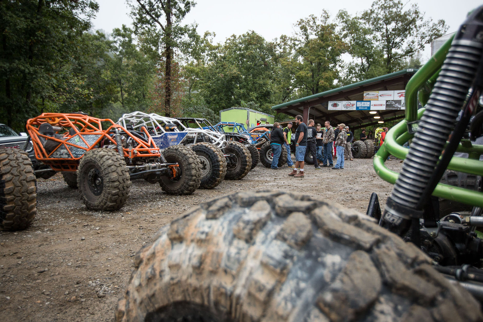 Rock Bouncers line up in Arkansas, photographed for Car and Driver Magazine