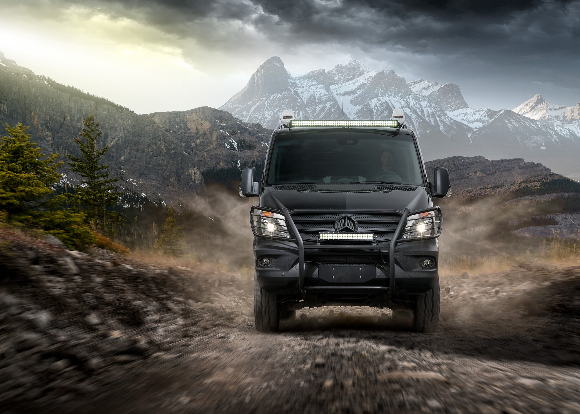Mercedes-Benz Sprinter Van 4x4 commercial photography in Banff, Canada