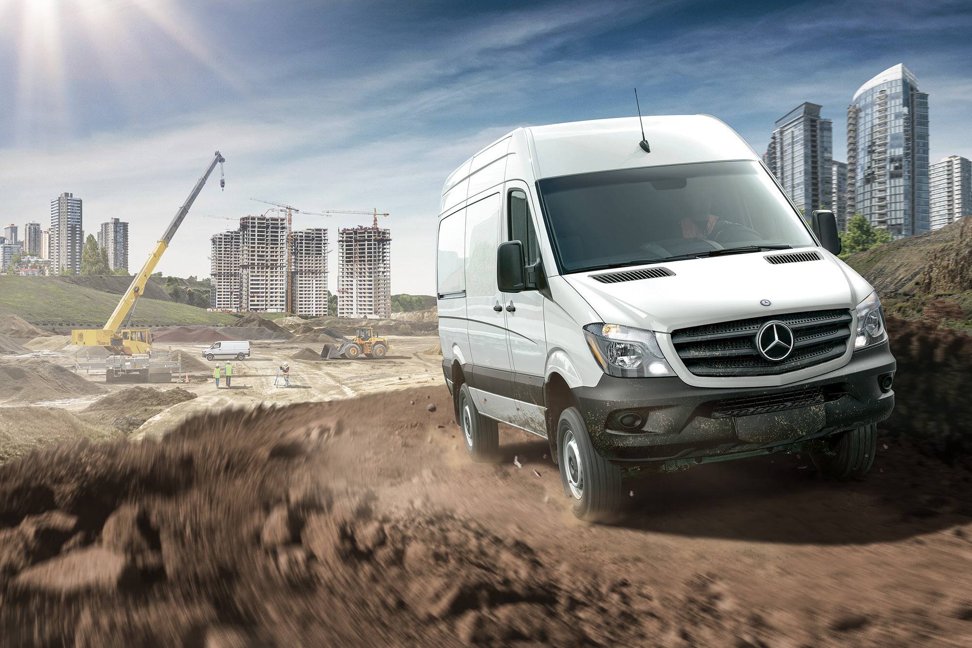 Mercedes-Benz Sprinter Van commercial photography
