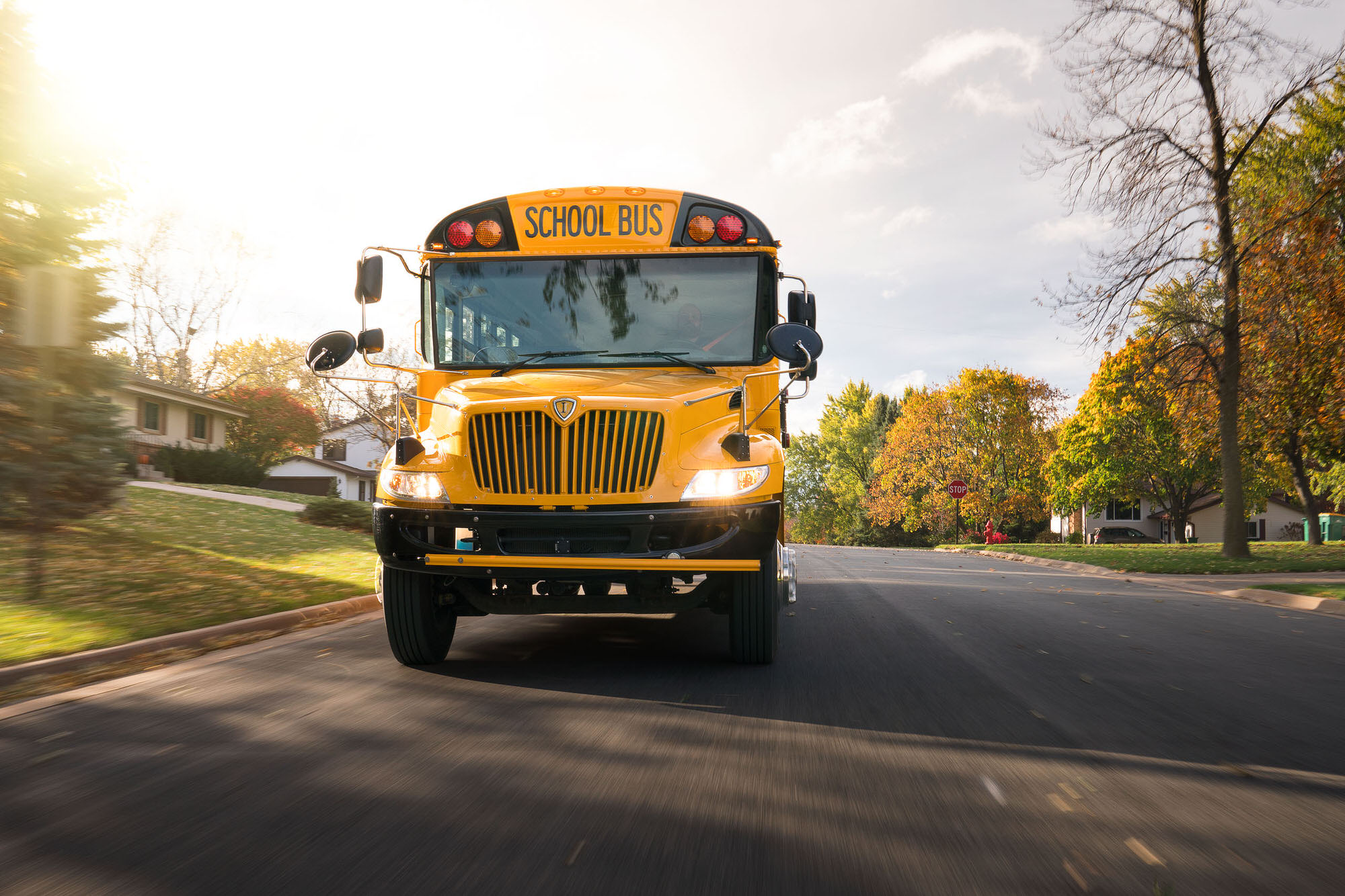 Navistar IC Bus Neighborhood commercial photography