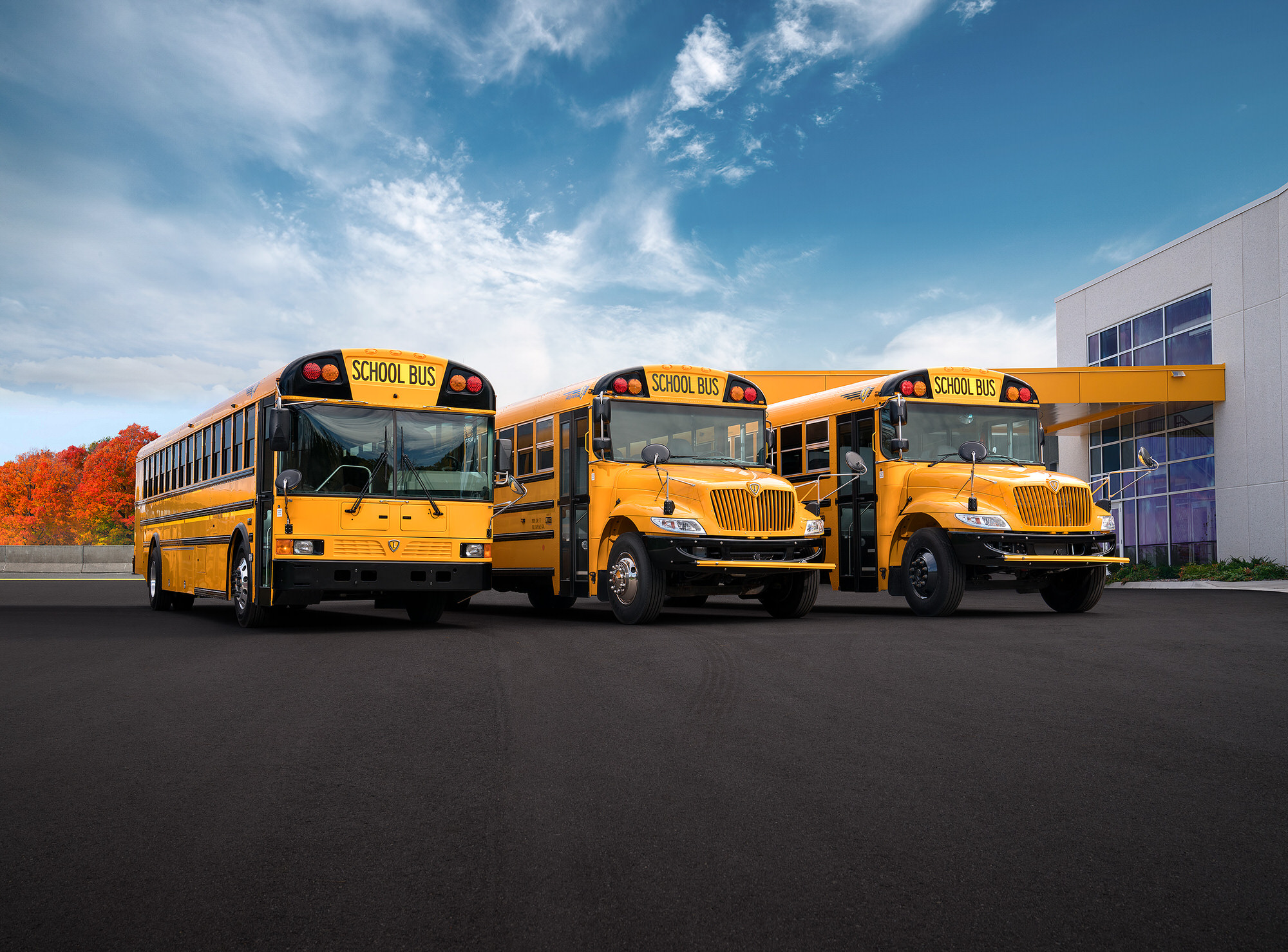 Navistar IC Bus commercial photography