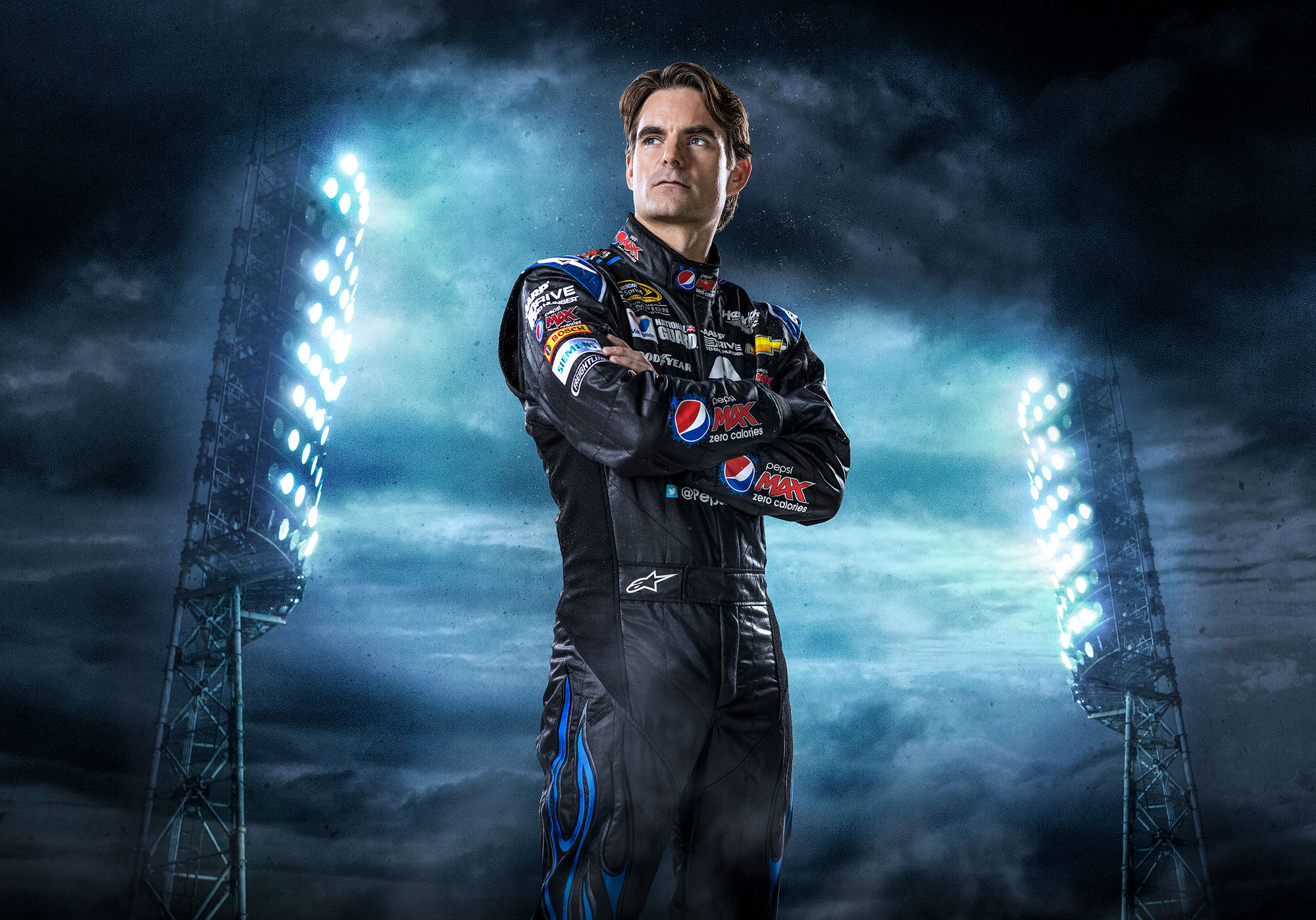 Jeff Gordon Pepsi Max NASCAR commercial portait photography