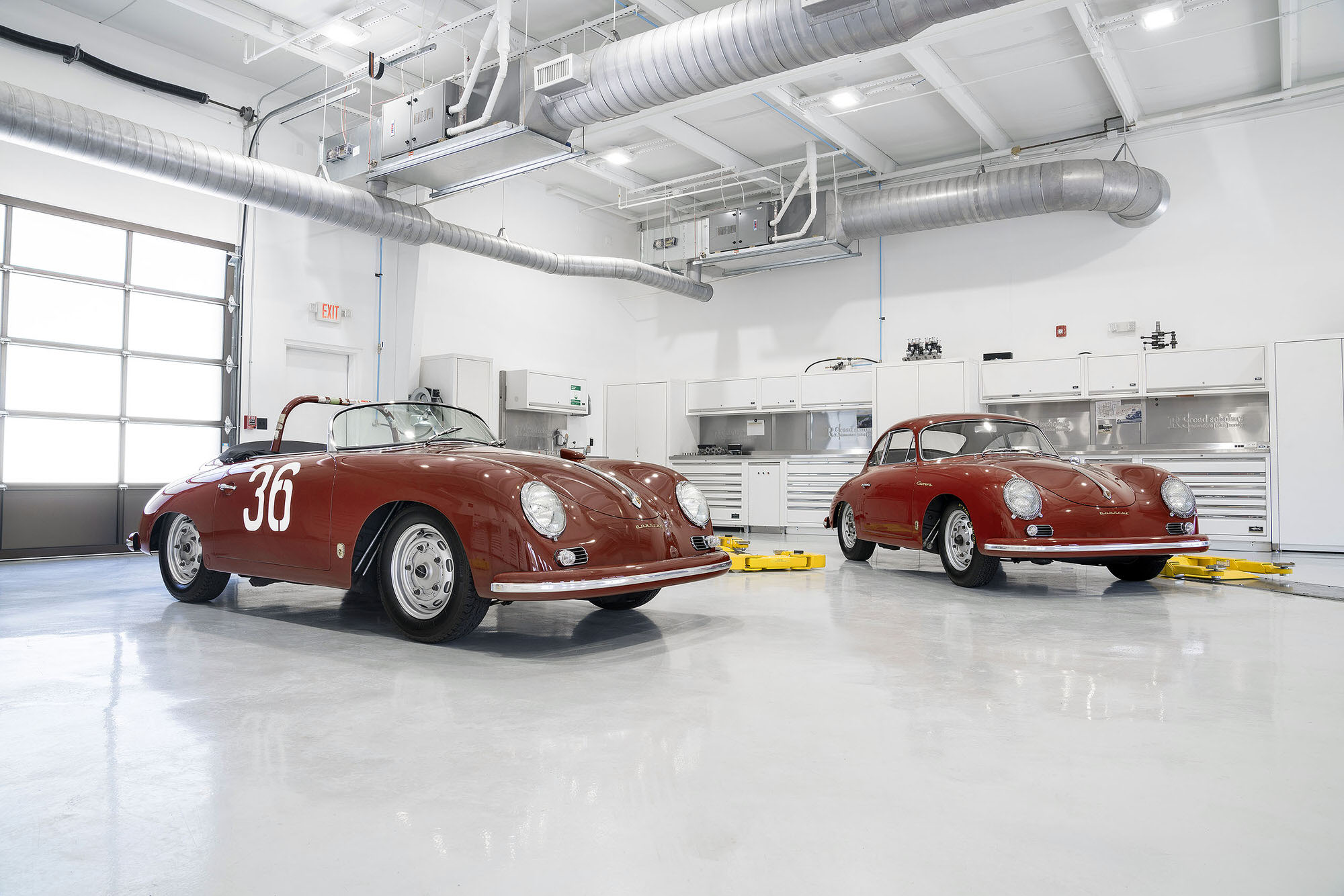 Legendary 1959 356 Porsche Carrera GT and Speedster.