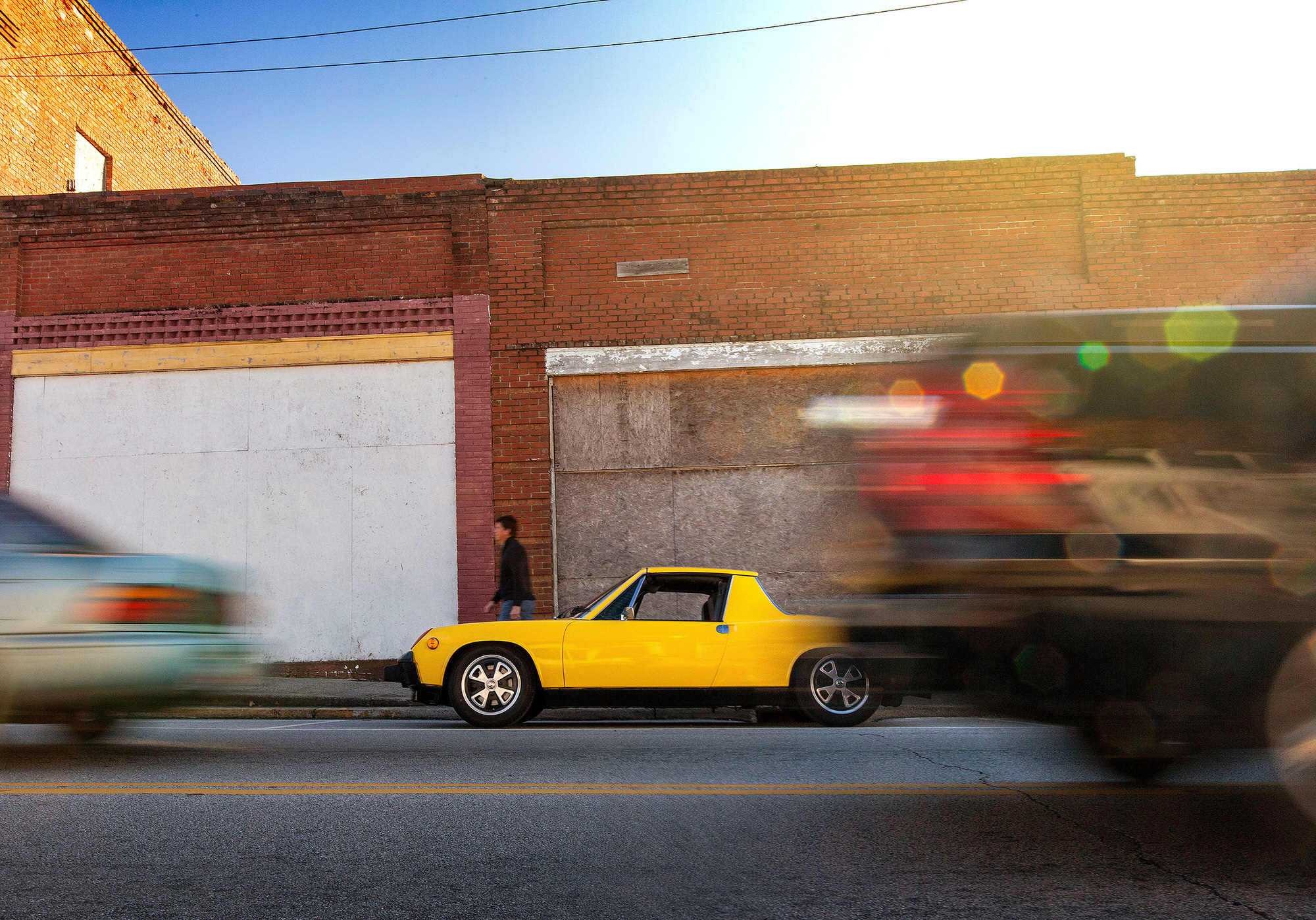Sunflower Yellow 1974 Porsche 2.0 liter 914