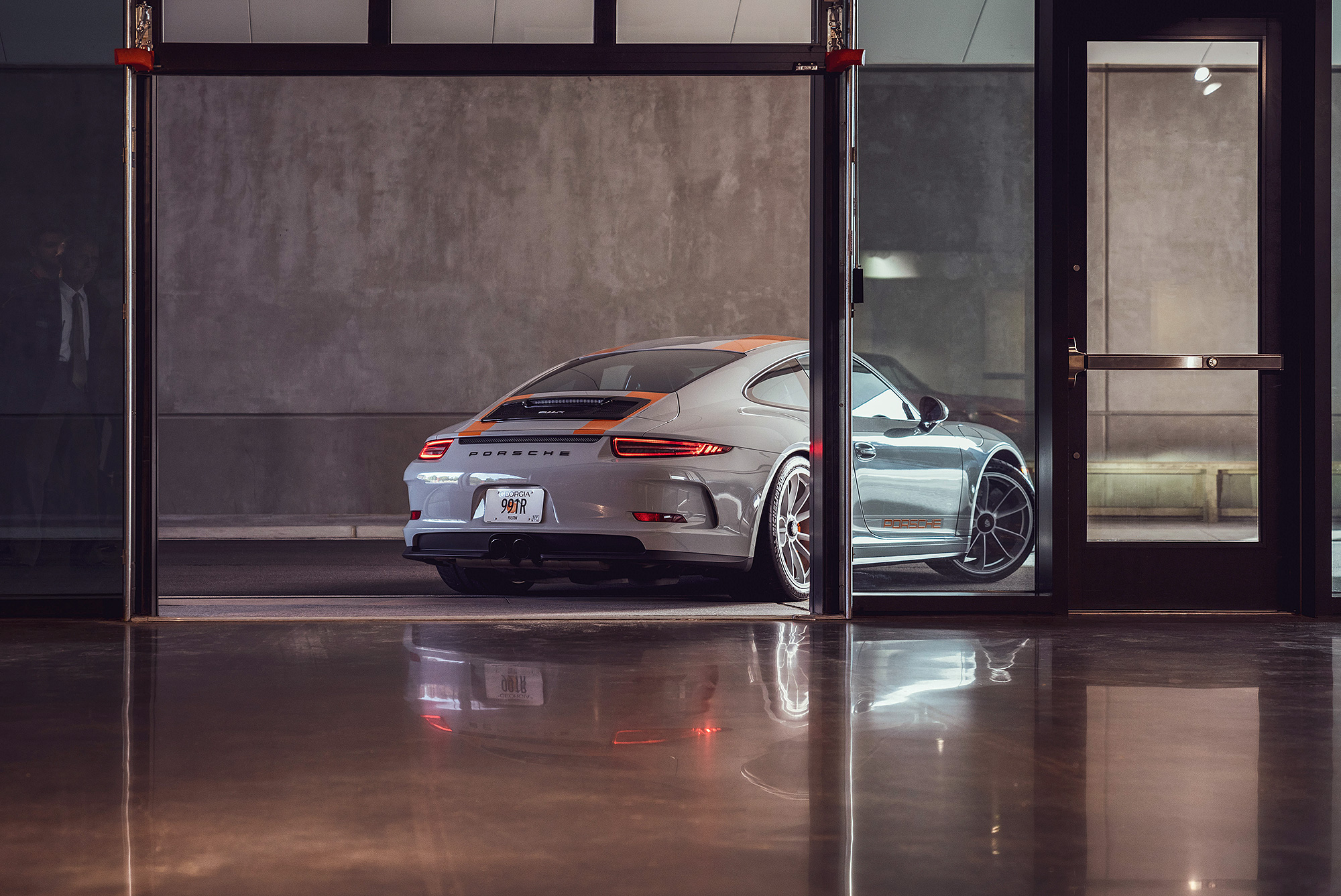 Porsche 911R at headquarters