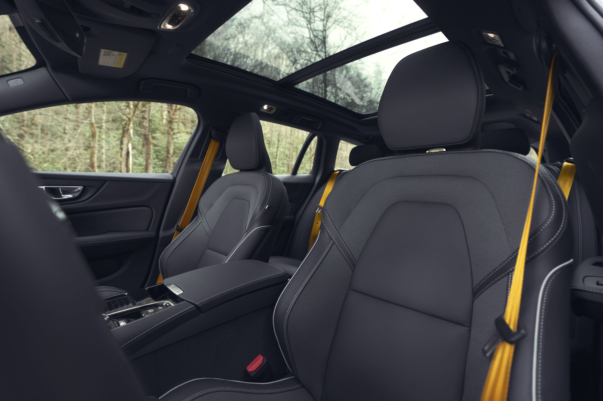 Volvo V60 T8 Polestar interior photographed in the mountains for Road and Track Magazine