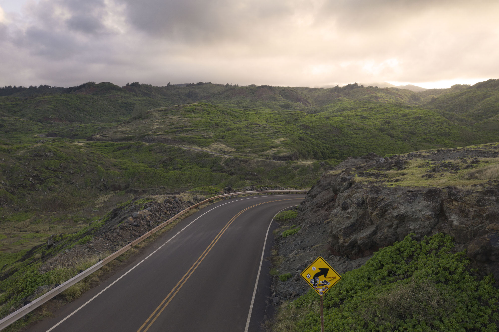 Kahekili Highway in Maui, Hawaii